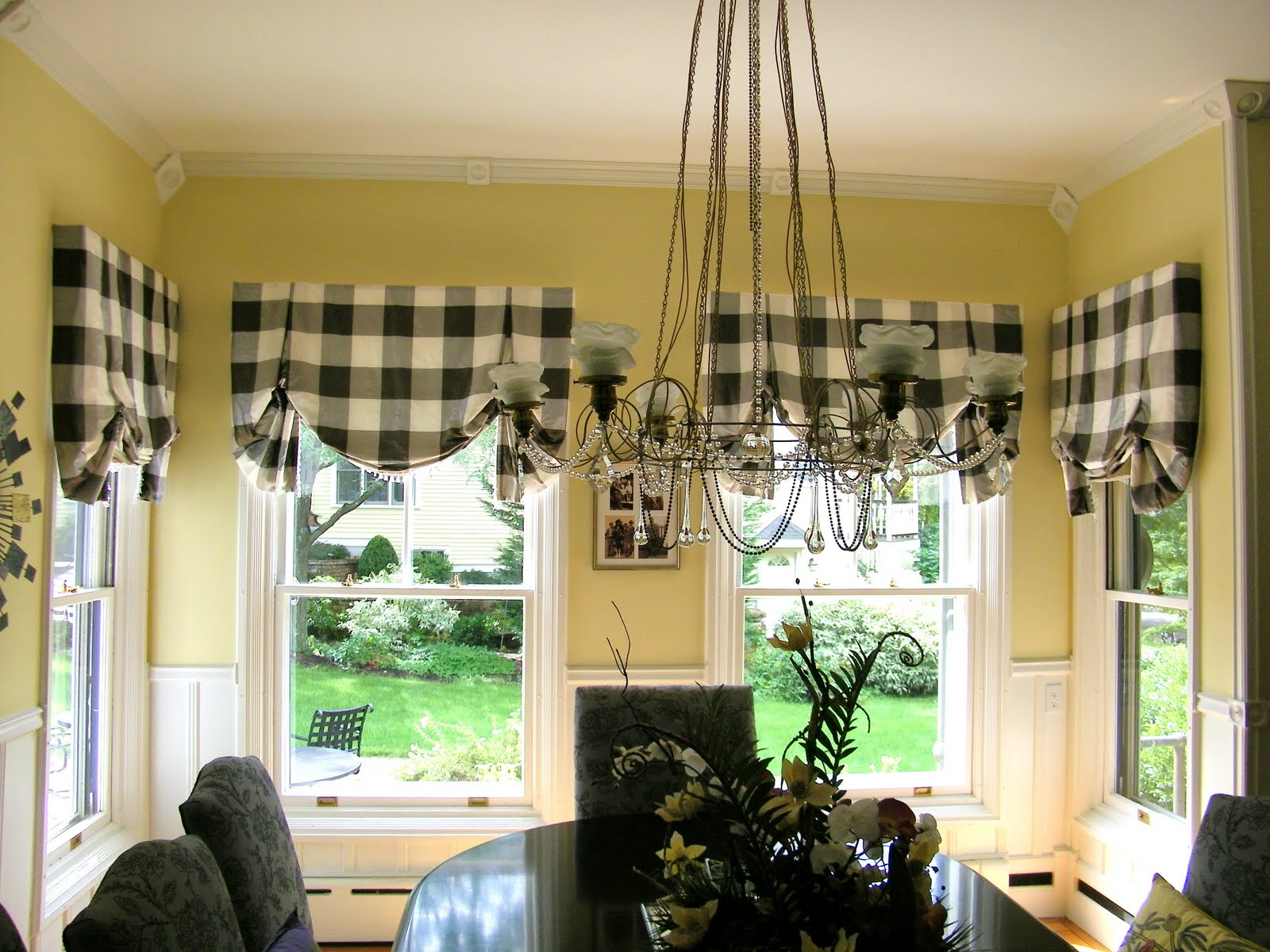 Black and white buffalo check curtains - Friday September 9 2011