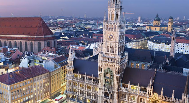 city centre of munich in southern germany