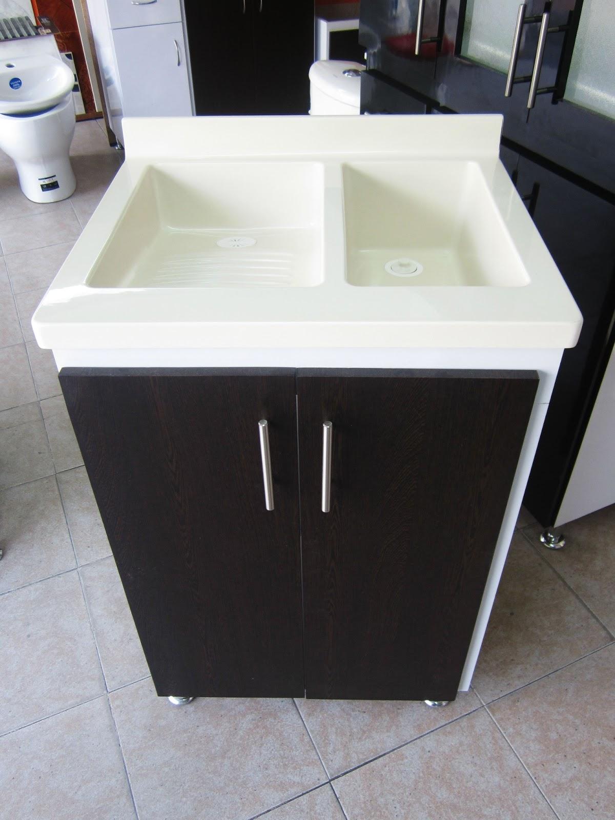 Muebles para ba o y cocina en policuarzo y fibra de vidrio for Lavadero de cocina con mueble