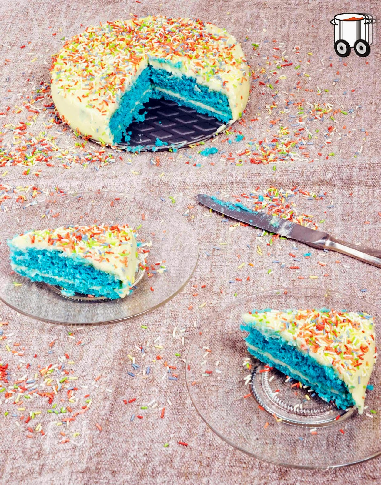 Szybko Tanio Smacznie - Szmaragdowy tort biszkoptowy z maślanym kremem