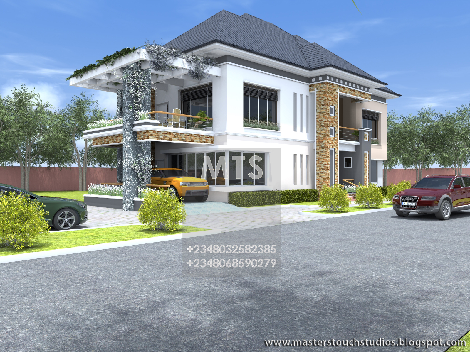 Engr eddy 6 bedroom duplex residential homes and public for 4 bedroom house designs in nigeria