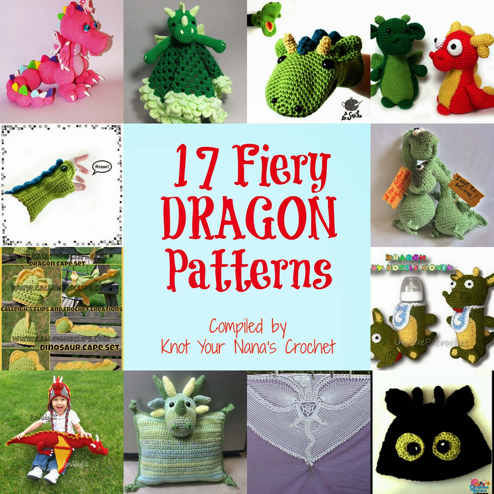 Asian Dragon Amigurumi Pattern Free : Knot Your Nanas Crochet: Smaug the African Flower Dragon ...