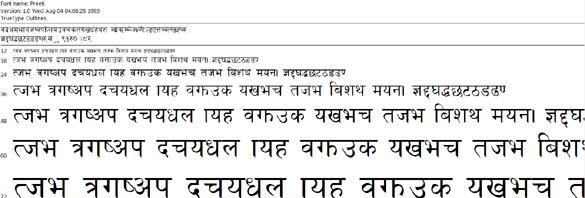 Traditional Nepali Keyboard Layout