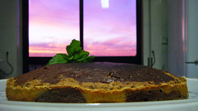 Bolo de chocolate e hortelã