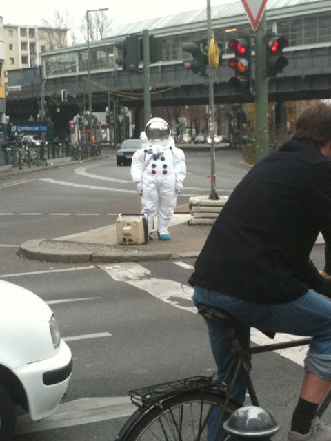 astronaut in berlin