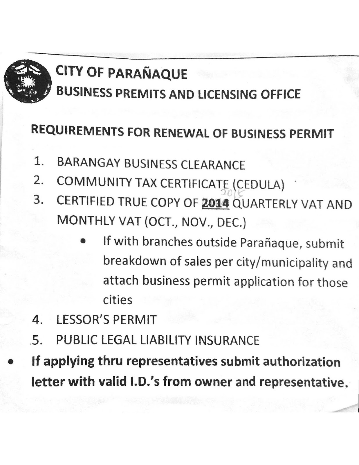 2016 Business Permit Renewals And Annual Filing Get With D Act