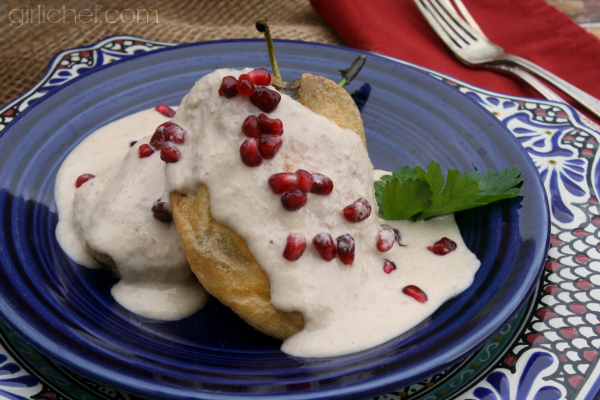 Chiles en Nogada (Chiles in Walnut Sauce) inspired by Like Water for Chocolate for Food 'n Flix | girlichef.com