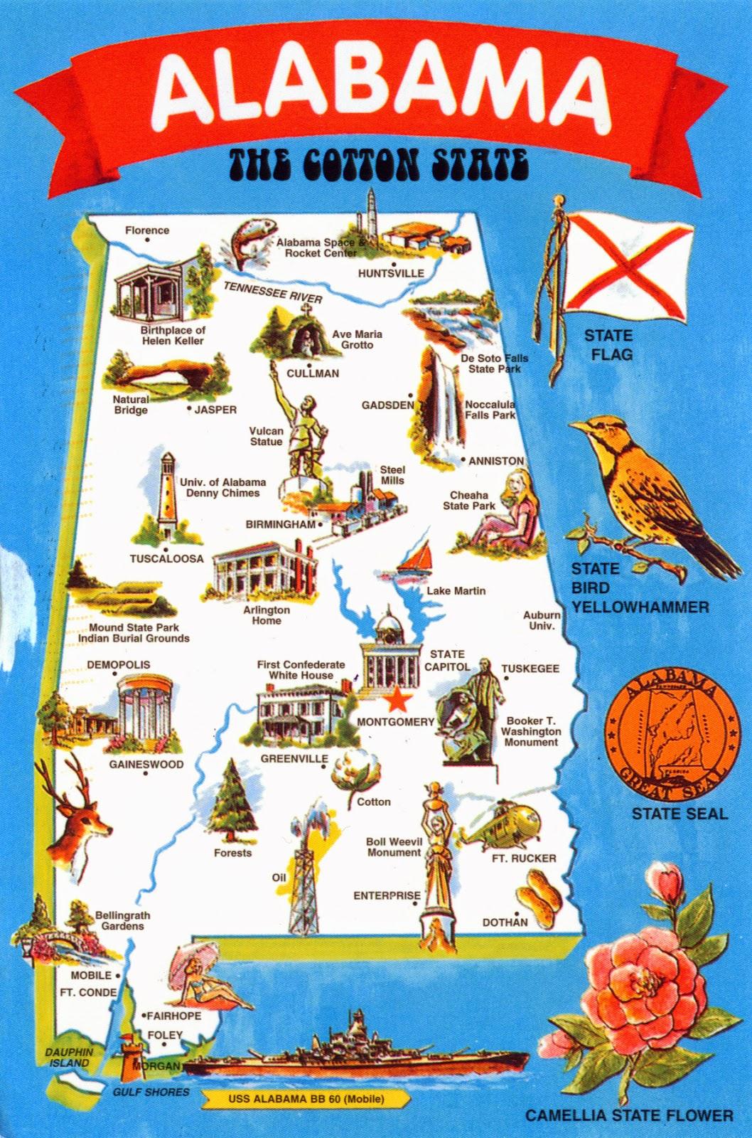 WORLD, COME TO MY HOME!: 1391 UNITED STATES (Alabama) - Alabama map ...