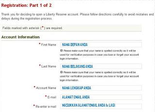 Registrasi Awal Liberty Reserve