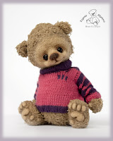Полосатый свитер для мишки. Мастер-класс.