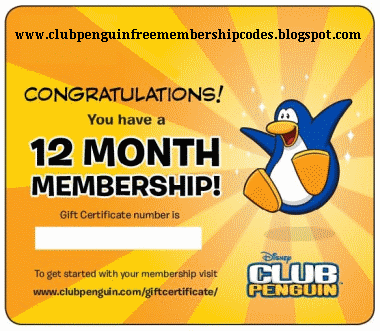 Club Penguin 12 Months Free Membership Codes!