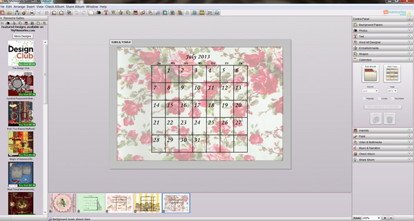 Take a first look at the MyMemories scrapbooking program