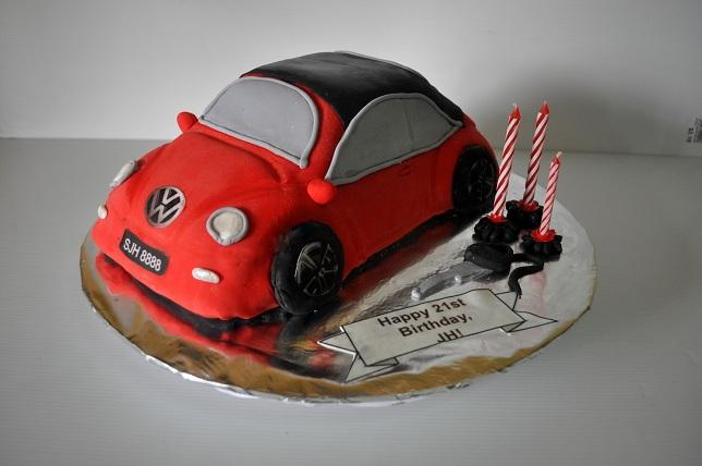 Izah S Kitchen Volkwagen New Beetle Car Birthday Cake