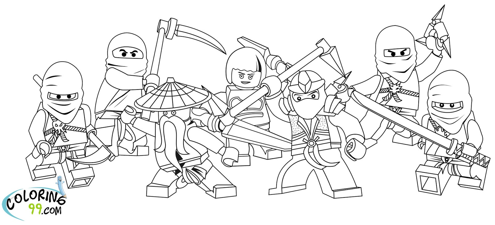 Printable Lego Colouring Pictures : Lego ninjago coloring pages team colors