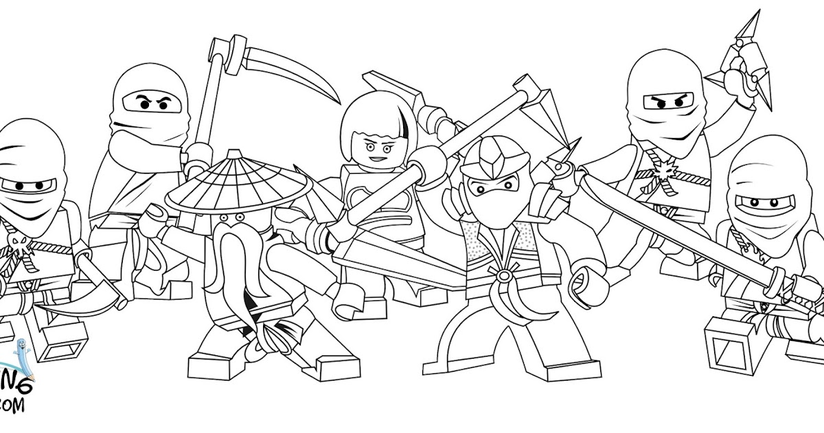 LEGO Ninjago Coloring Pages Team