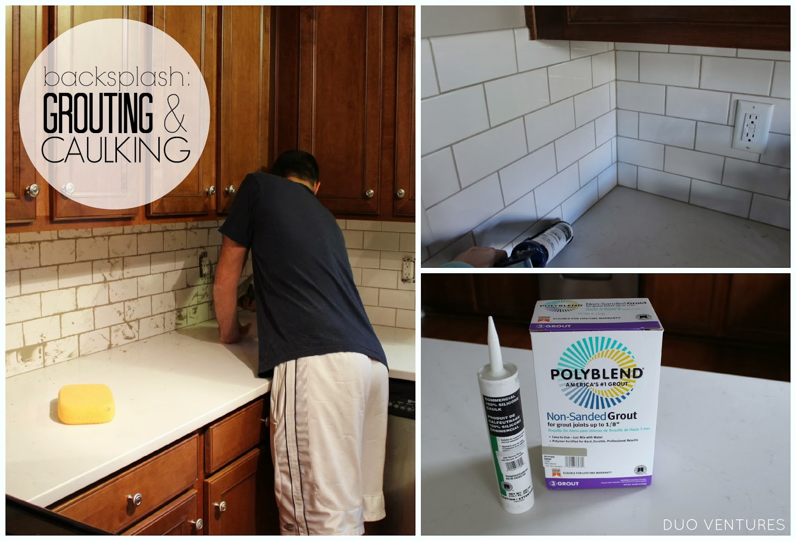 Kitchen Update: Grouting U0026 Caulking Subway Tile Backsplash