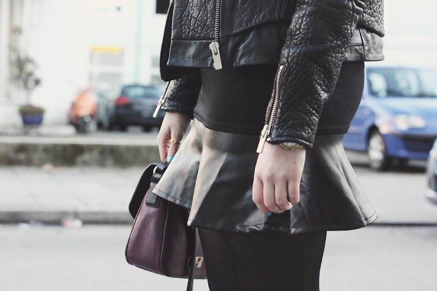 poppy lux rita faux leather skirt