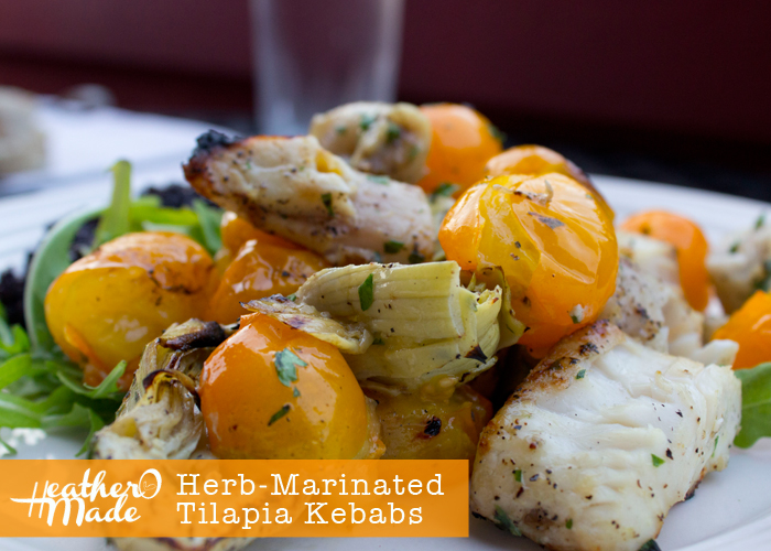 Herb-Marinated Tilapia Kebabs recipe