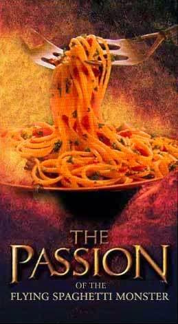 Funny Flying Spaghetti Monster Passion Jesus Christ Joke Picture