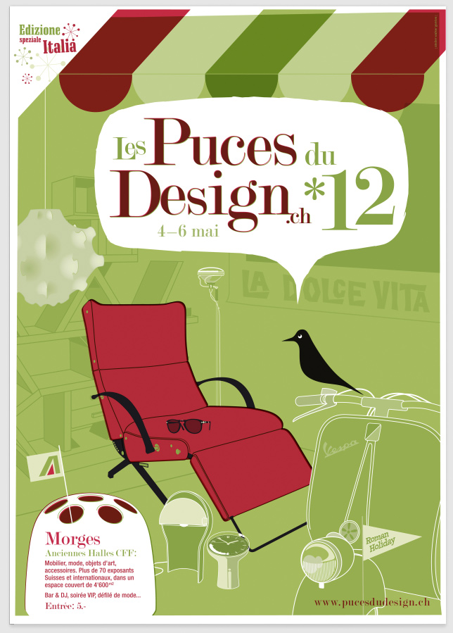 les puces du design 2012 suisse. Black Bedroom Furniture Sets. Home Design Ideas