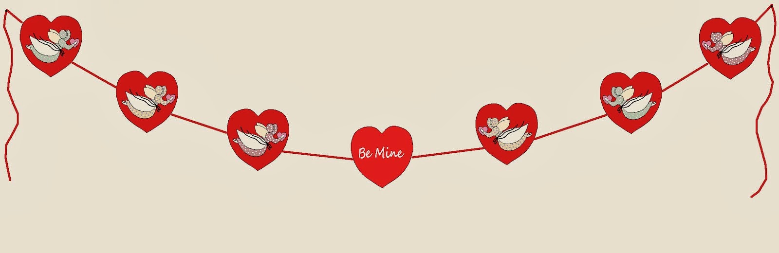 "NEW - Valentine ""BE MINE"" Banner"