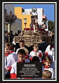 Cartel Anunciador de la Procesión el día 4 de Noviembre de Santa Ángela de la Cruz.