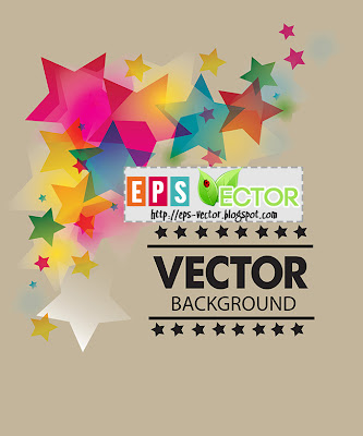 [Vector] - Colorful stars background