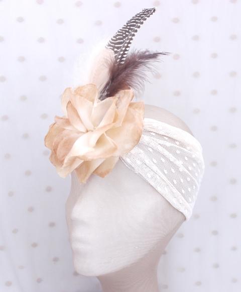 Colección Cumbres - Banda elastica ancha Chocolate flor