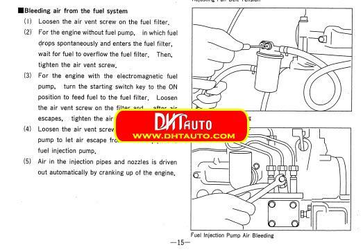 Mitsubishi Diesel Engine L Series L A L C L E L A L C L E Service Manual on L3c Engine
