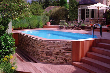 Swimming pool open source ecology for Above ground pool decks for small yards