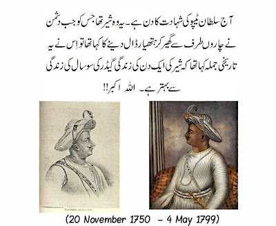 Tipu Sultan Day