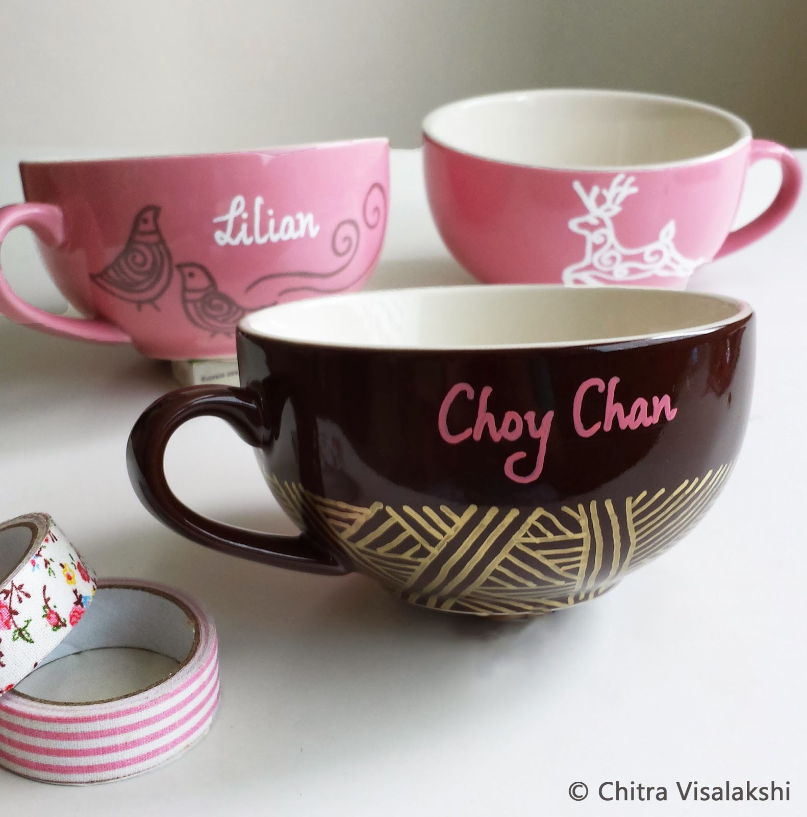 craft with chitra personalized mugs cappuccino mugs. Black Bedroom Furniture Sets. Home Design Ideas