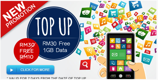 topup RM30 FREE 1GB