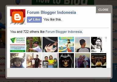 Cara Membuat Kotak Popup Facebook Like Page di Blogspot