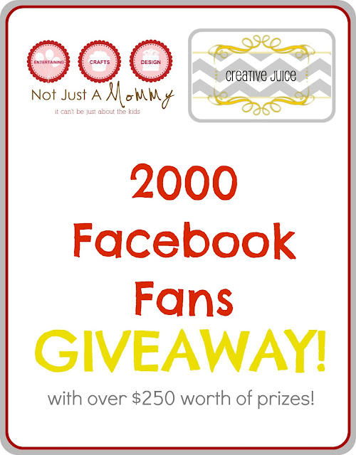 Not Just A Mommy! Creative Juice 2000 Facebook Fan giveaway
