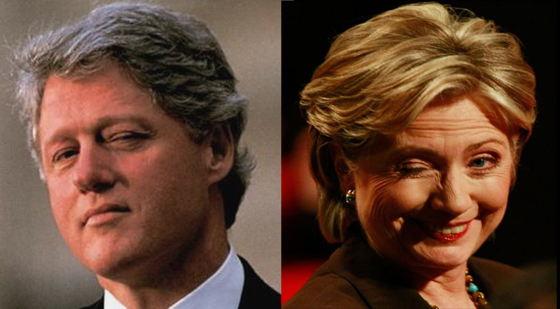 Slick WIllie and Sneaky Hillary
