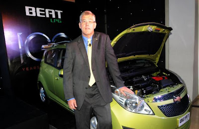 Karl Slym GMI President and MD with Chevrolet Beat