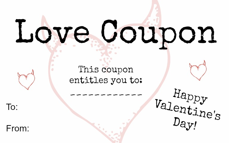 Free Love Coupons Just In Time For ValentineS Day  My Mini