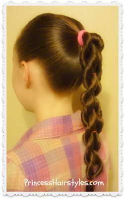 Twisted pull through braid video tutorial. Hairstyle for school.