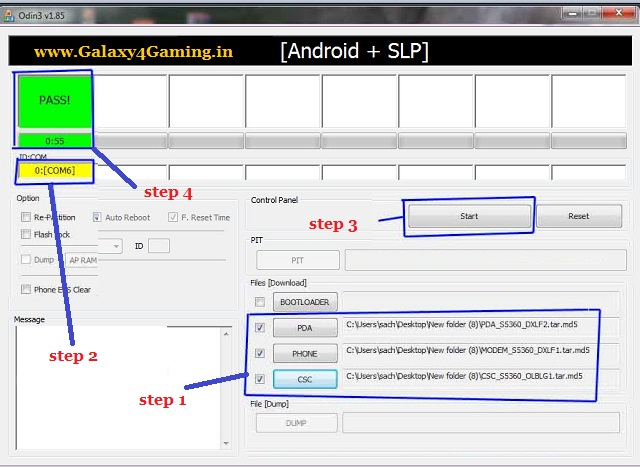 Flash stock rom via odin for samsung galaxy y