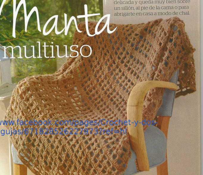 """Manta Multiuso"" a Crochet"