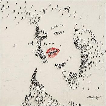 Keren | Potret Marilyn Monroe Dari Ratusan Manusia [ www.BlogApaAja.com ]