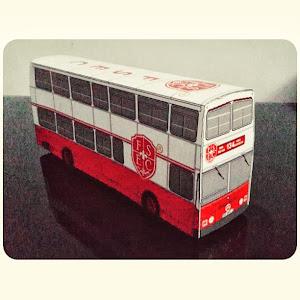 Papercraft Bus Fun & Smart Education Center
