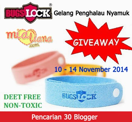 Giveaway Bugslock Gelang Penghalau Nyamuk Di Mialiana.com