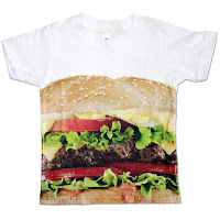 Psychobaby Eat 'em Up Cheeseburger Tee