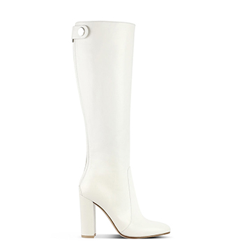 Gianvito Rossi White boots with block heel
