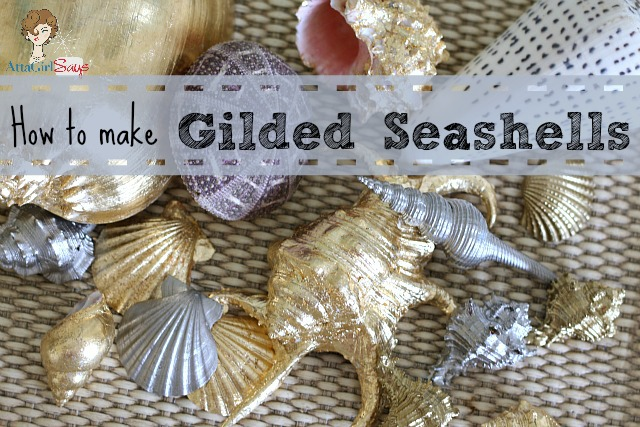 Things To Make With Seashells http://www.733blog.com/2013/05/gilded-seashells-home-decor.html