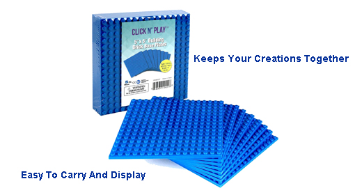 Blue Building Baseplate 5x5 8 pack #bluebaseplate5x5p8