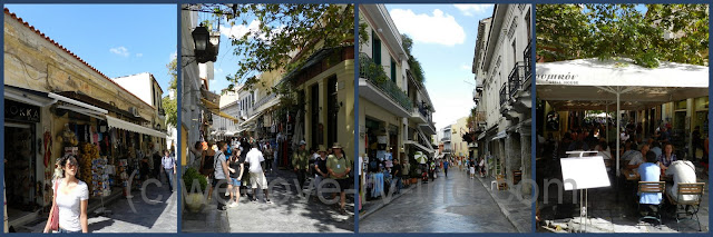 Several pics of the streets we walked along while visiting the Plaka