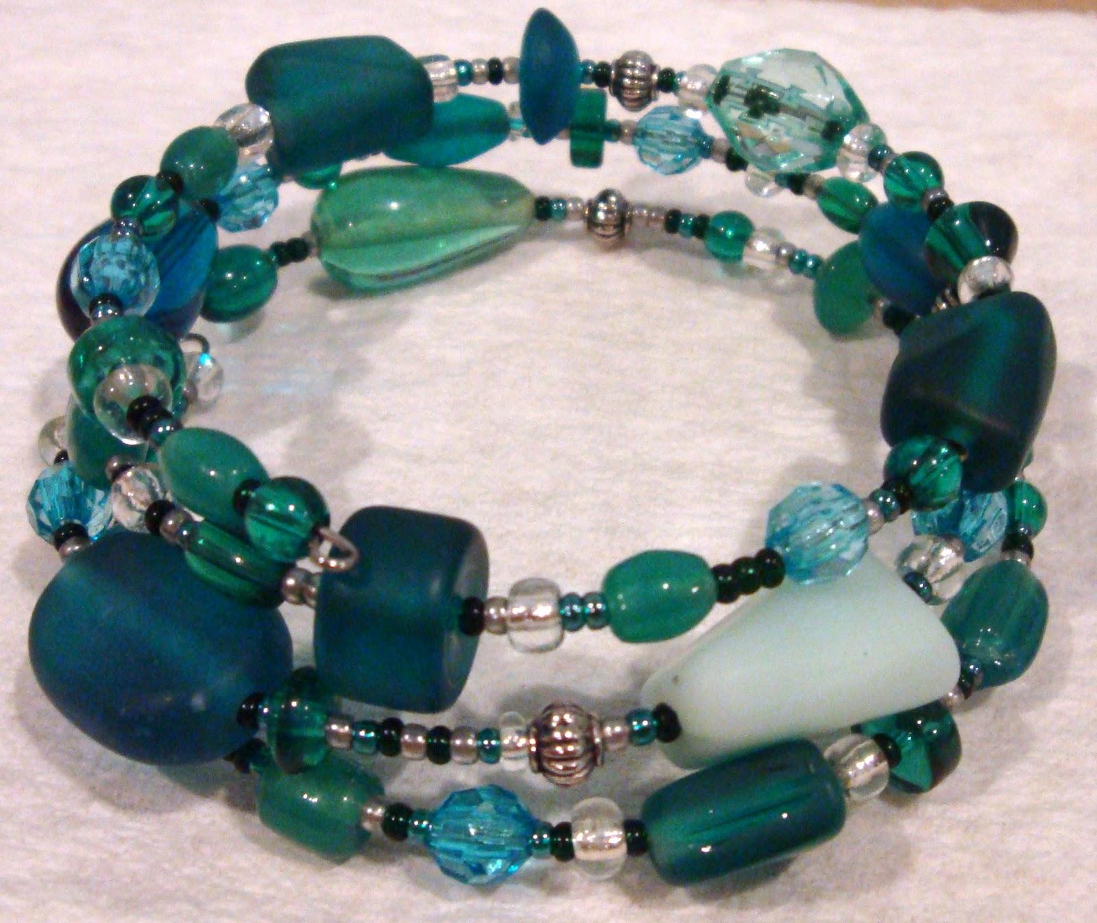 the crafty knack beaded memory wire bracelets